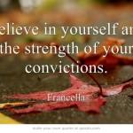 Believe In Yourself in 2013